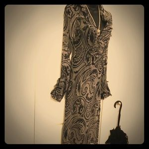 Lovely uniquely-designed DVF dress.